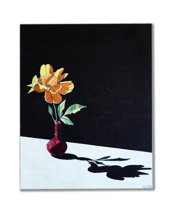 Red Vase with Flower Quarantine Series Acrylic and Pencil on Wood Panel 30x24 1 - Event Recap:  Victor Arimondi Retrospective Tribute 'Donald and Victor: Under The Influence' With Artist Don Hershman At Salomon Arts Gallery @lawlormedia