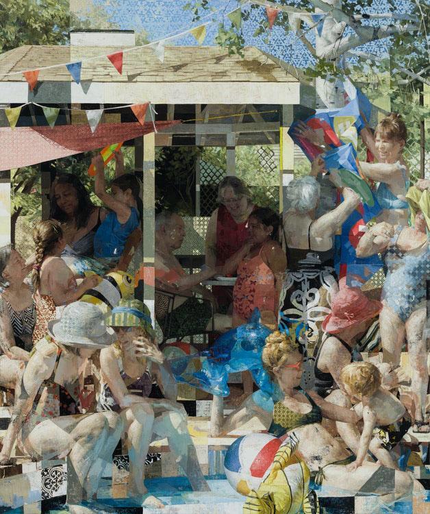 pool party - Zoey Frank: Summer Paintings May 27- June 26, 2021 at Sugarlift