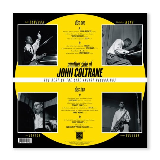 Coltrane AnotherSide Packshot Back 540x540 - Craft Recordings set to release Another Side of John Coltrane