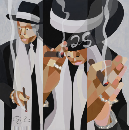 Static image of Heir to the Throne by Derrick Adams1 540x544 - JAY-Z & Derrick Adams Celebrate 25th Anniversary of 'Reasonable Doubt' Album with NFT Auction at Sotheby's