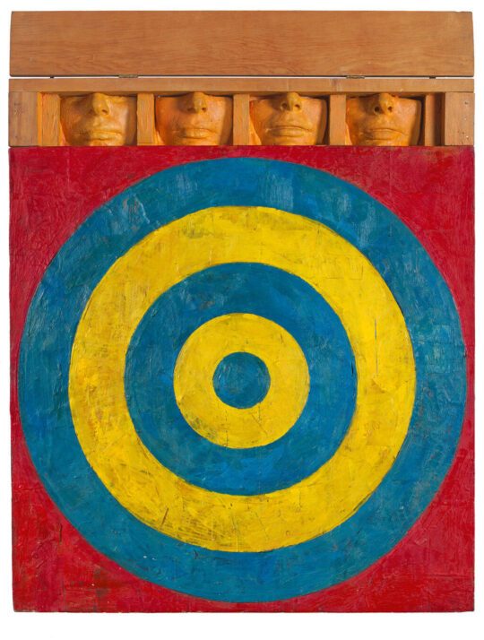 medium P8 Target with four faces 1955 540x714 - Jasper Johns: Mind/Mirror Sept 29, 2021–Feb 13, 2022 at the Whitney Museum