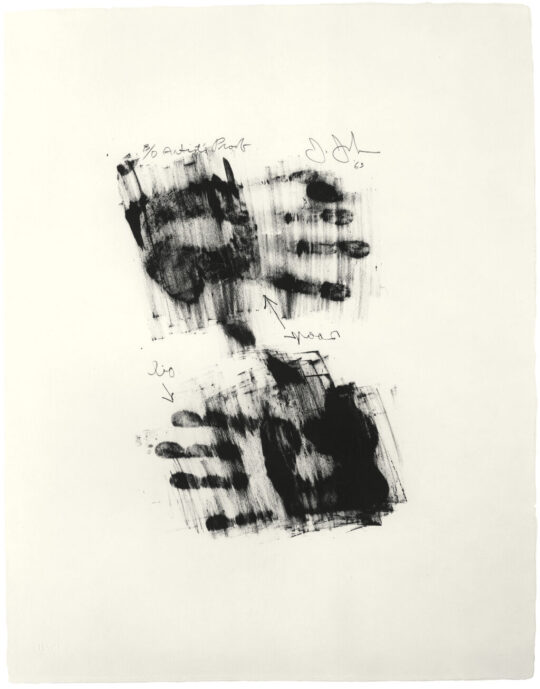 medium PR016  JasperJohns 0016 1963 Hand  540x689 - Jasper Johns: Mind/Mirror Sept 29, 2021–Feb 13, 2022 at the Whitney Museum